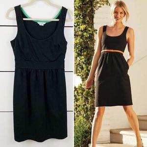 BODEN Francesca Ponte Empire Dress Black Size 6